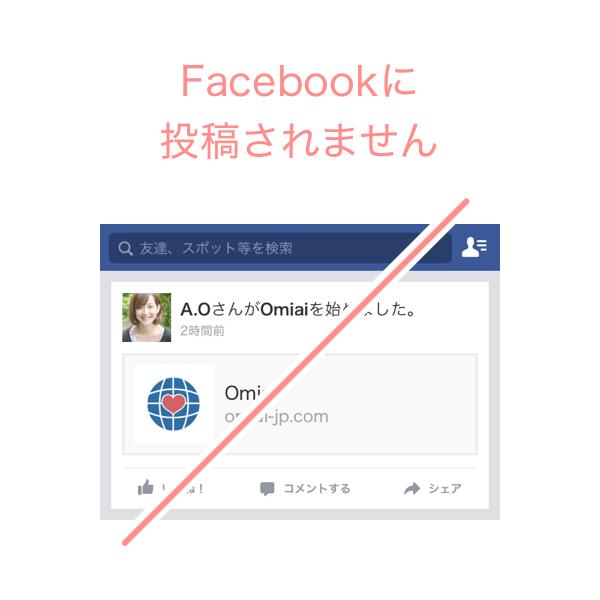 Facebookに表示されません