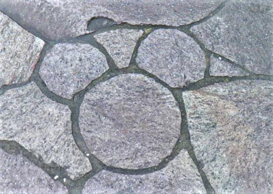 隠れミッキーの石